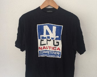 Nautica Competition Roundneck Tshirt Embroidered Logo Spell Out