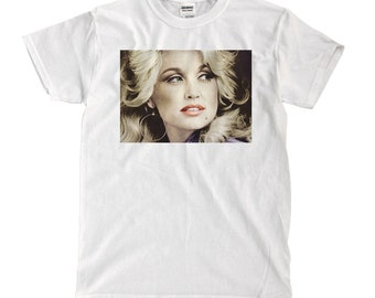 Young Dolly Parton - White T-shirt