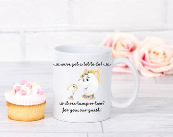 Beauty and The Beast Mrs Potts and chip mug