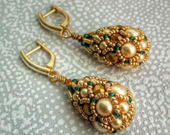 Gold Earrings, winter gift wife, long earrings for evening, Wife Gift, Gift For Girlfriend, Gift For Her, Girlfriend Gift, Gift For Mom