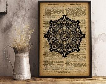 Mandala Poster Sacred Geometry Print, Mandala Art, Meditation wall art, Mandala poster, Spiritual print (MA33)