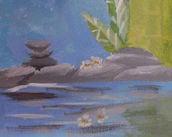 Acrylic Painting Serene Waters