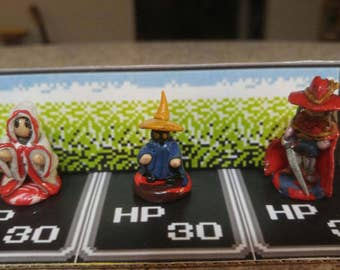 Final Fantasy Miniatures - Mage Pack (3 figures: red, white and black mage)