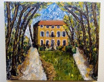 Le Jas de Bouffan, Aix-en-Provence. Oil painting (45x53cm) House of Cézanne