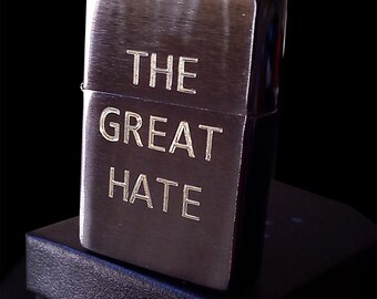 Personalized Brushed Chrome Zippo Lighter (Filled Engraving Letters)
