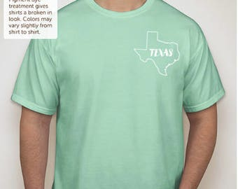 """Texas """"Home is where the heart is"""" t-shirt"""