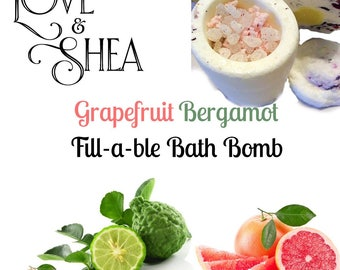 Grapefruit Bergamot  Bath Bomb   Bathbomb   Dead Sea Salt  Mother's Day Gift