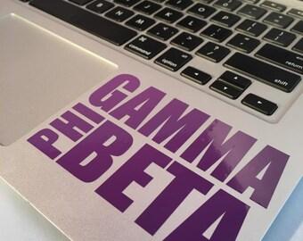 Gamma Phi Beta Block Decal