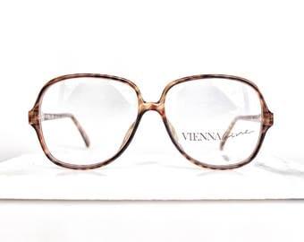 1990's vintage, Viennaline designer glasses frames in tortoiseshell