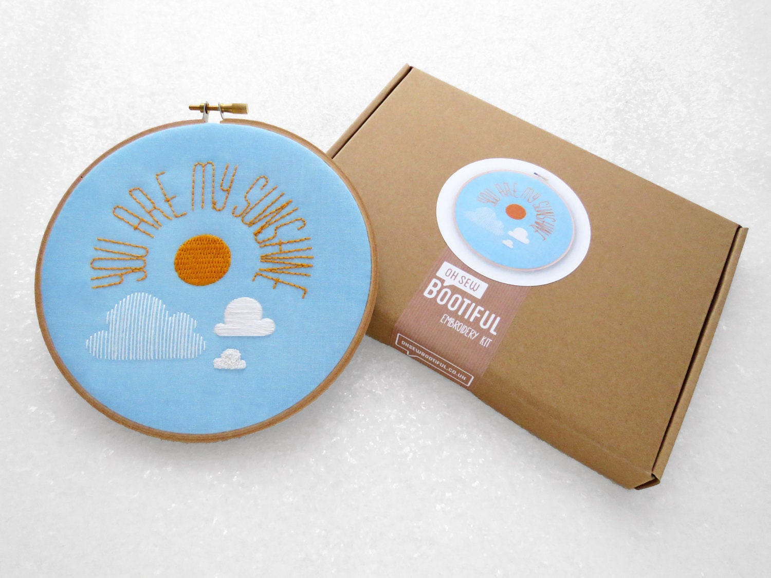 You are my sunshine gift easy embroidery kit diy nursery