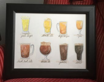 Watercolor Beer Sampler