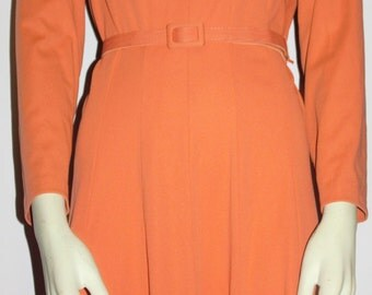 Vintage 1970's salmon colored dress