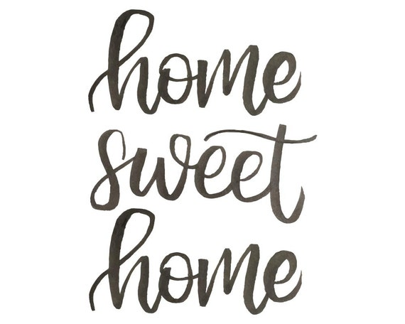 Home Sweet Home Sign Rustic Decor Farmhouse Wall Decor