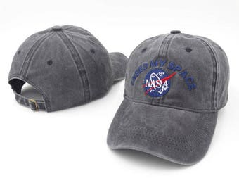 Vintage grey embroidered nasa 'I need my space' dad hat