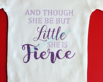 Though she be but little   baby gift   baby shower   she is fierce   baby girl gift   new baby gift