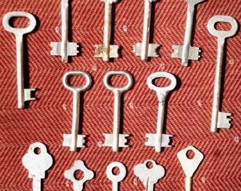 Old Soviet large set of different keys. USSR. 1970-1980 - 15 pcs.