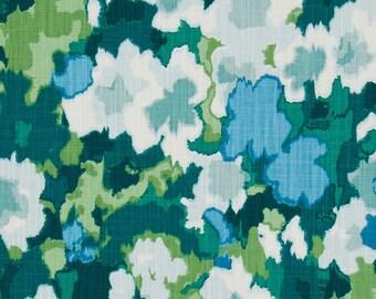 Floral Pillow Cover, Green, Sky Blue, Medium Blue, Dark Green, Light Green, Throw Pillow, Modern, SummerHome, Spring Pillow, Leafy Green