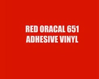 5 Foot Roll of Oracal 651 Adhesive Vinyl - Red #031