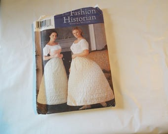 Misses crinoline hoop skirt pattern in 2 widths by fashion historian Martha McCain multiple sizes