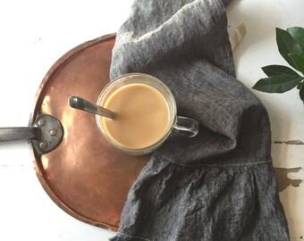 Linen Tea Towel with Fringe