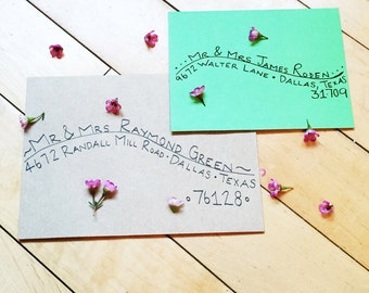 Green Style Custom Calligraphy Envelope