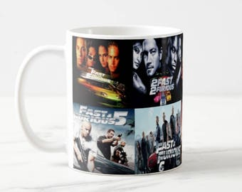Fast and Furious mug, Fast and Furious 1 2 3 4 5 6 7 8 images, Fast and Furious films, Fast and Furious gift, Fast and Furious cup, 11oz mug