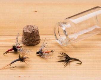 Tenkara  Flies   ||  4 flies per order presented in jar  ||  Hand Tied Flies