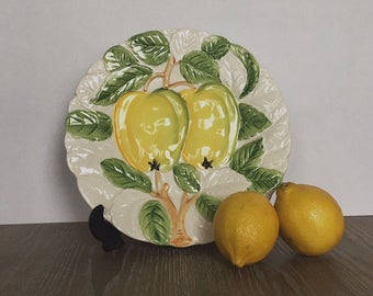 Fuit Plate, Pear Plate, Fruit De Jour, Shafford, English, Fine China, Vintage, Decorative Plate, Collectible, Fruit Plate Collection