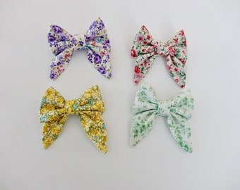 Spring Floral Sailor Bow