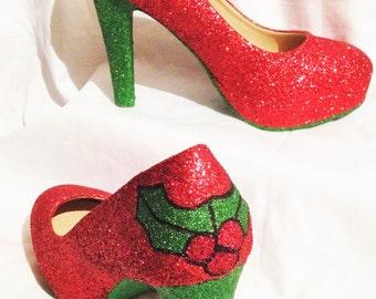Christmas inspired heels * *  * UK SIZES 3-8