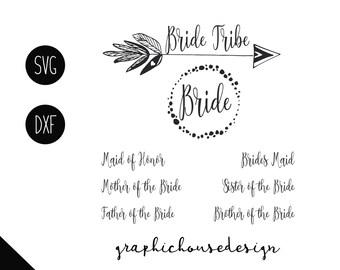 wedding svg, bride svg, Bride Tribe svg, svg wedding, svg files, cut files, decal designs, label signs, groom svg, marriage svg, commercial