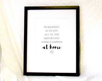 In Baseball As Life The Most Important Things Happen At Home Decor Boys Bedroom