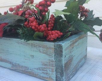 Winter Berries Tablescape Planter Box Centerpiece - BOX ONLY!
