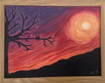 Sunset Canvas 18x24 Inches Framed