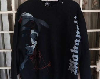 Vintage Makaveli tupac shakur big face spellout/black/XL/hiphop/breakdance/sportwear