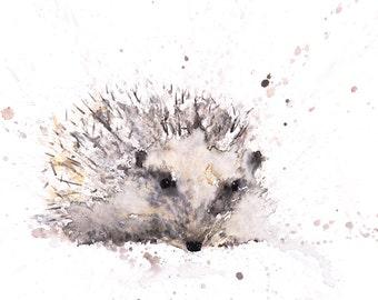 Hedgehog No.1 - Signed print of my original Watercolour Painting