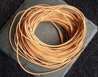 5 meters of Natural Oxhide 1mm Diameter Quality Real Leather Cord
