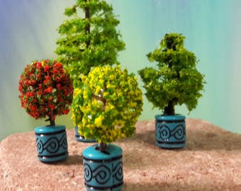 Dolls House miniature Trees  1/24 & 1/36 scale