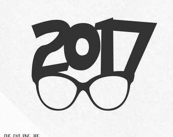 New years svg New Year Sunglasses 2017 Svg Happy New Year 2017 Holidays Svg files for silhouette svg files for cricut svg files svg designs