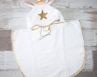 baby - Unicorn bath poncho