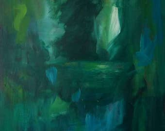 Abstract painting, green, nature greenery, green painting, green painting, nature, green