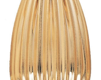 14x21mm Gold Filled Corrugated Teardrop Beads 14/20kt.