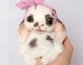 Rabbit Bunny Handmade Pet Doll Toy Animal Art