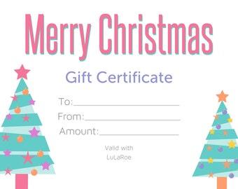 Christmas gift certificate | Etsy