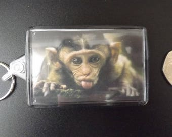 Cheeky Monkey! Large Keyring. A lovely item.Use as a keyring,hang on your bag strap,or belt loops