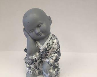 Buddha Boy Monk Grey