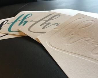 Letterpress Thank You Cards (Set of 10)