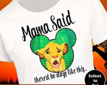 Lion King Shirt, Simba Shirt, Disney Animal Kingdom Shirt, Funny Disney Shirt, Lion King Tank, Simba Tank, Funny Disney Tank
