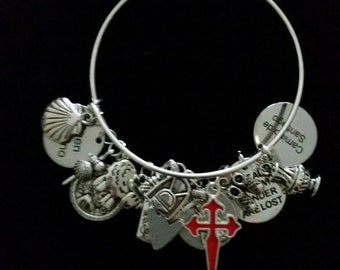 Camino de Santiago Charm Bracelet with 4  charms of your choice **