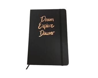 """A5 notebook """"Dream Explore Discover"""""""